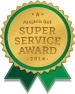 Angies List Super Service 2014 award logo